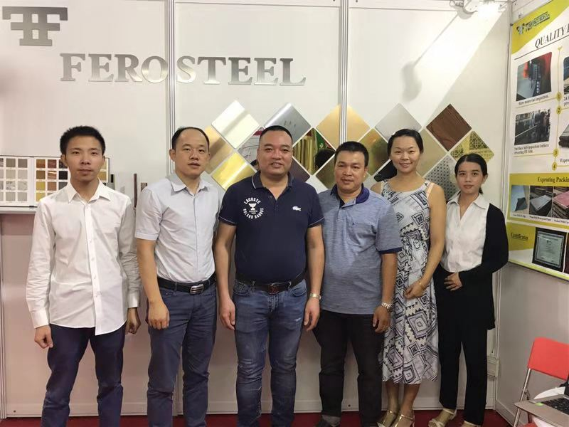 Ferosteel Team at Vietbuild 2018